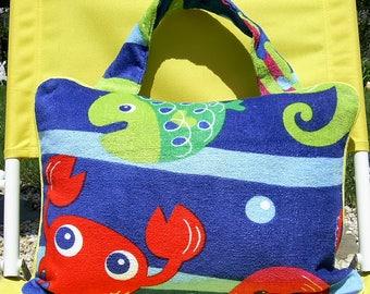 Pillow Beach Pillow Travel Pillow Under the Sea