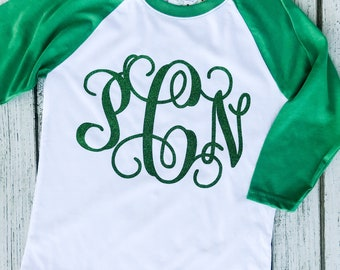 St Patrick's Day, St Paddy's Day, St Patty's Day, Don't Get Pinched, Green, Irish, Shirt, Monogram, Raglan