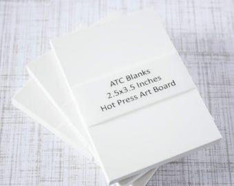 ON SALE ATC Blanks Aceo Blanks Watercolor Board Hot Press Artist Trading Card Supplies Aceo Supplies Altered Art Mixed Media Scrapbooking 5