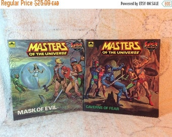 20% SALE 1984 MOTU Masters of the Universe Books Mattel Mask of Evil Caverns of Fear