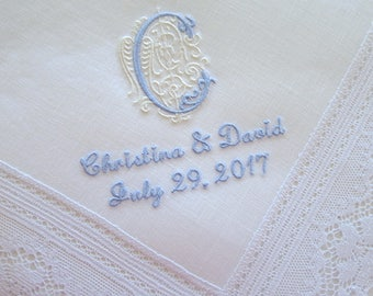 Wedding Hankerchiefs, Wedding Hankies, Handkerchiefs, Handkerchief for the Bride, hankerchiefs, Bride hankerchiefs, mother of bride