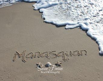 Manaquan Beach Sand Beach Writing  Fine Art Photo Jersey Shore