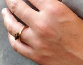Gemstone Ring, Gold Plate...