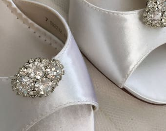 Sale Wedding Shoes  Clips - Crystal Wedding Shoes - Bridal Shoe Clips - Wedding Shoes - Wedding Heels - Shoe Clips - Wedding Shoe Clips