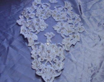 BEATRIX cutwork satin lace wedding gown medallion