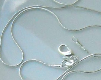 3 - 22 inch silver plated 2mm snake chain