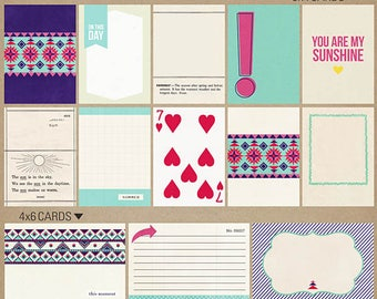 Aztec Summer (Journal Cards) - Perfect for Project Life Beach, Pool, Summer INSTANT DOWNLOAD