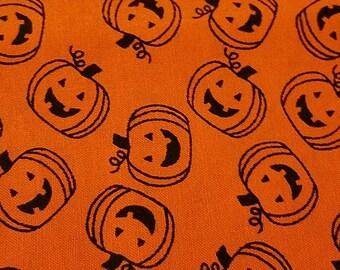 Orange Skull Cap w Pumpkins, Chemo, Hats, Biker, Head Wrap, Halloween, Children, Men, Do Rag, Head Cover, Hair Loss, Bald, Surgical, Doctor