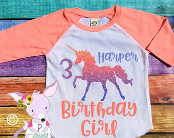 Custom Glitter Birthday Big Brother Sister Shirts by