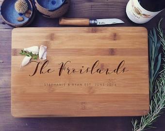 Personalized Cutting Board, Wood Cutting Board, Chopping Block, Wedding Gift, Housewarming Gift, Anniversary Gift, Couple Cutting Board
