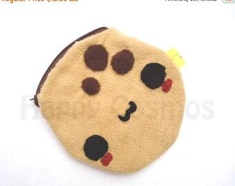 ON SALE - Cookie Zipper Pouch - Pencil Pouch, Pencil Case, School Supplies, Make Up Bag, 3DS Case, Phone Case, Coin Purse