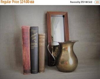 Memorial Day Rustic Brass Pitcher/Vase / Wedding Reception Decor / Home Decor / Very Vintage Brass Pitcher
