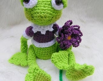 Summer Sale Crochet Pattern Frog by Teri Crews instant download PDF format