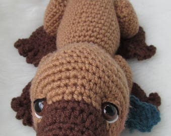 Summer Sale Crochet Pattern Platypus by Teri Crews Wool and Whims Instant Download PDF format