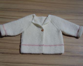 Handknitted Baby Cardigan// 0-3 months