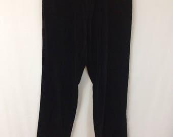 Gloria Vanderbilt Black Velvet Jeans //Vintage 1980's High Waist Jeans Pants// Mom Jeans Size 10