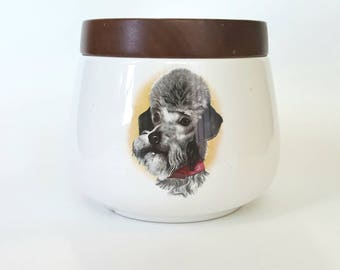 Cookie Jar with 3 Dogs - retro kitsch kitchen accessory decor
