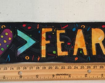Love is greater than fear fabric patch