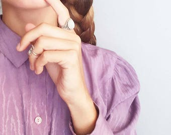 Purple romantic blouse - 1980
