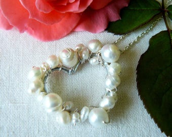 Freshwater Pearl Heart Pendant