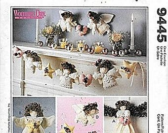 Angel Tree Topper, Wall Hanging, Ornaments and Garland Patterns M9445