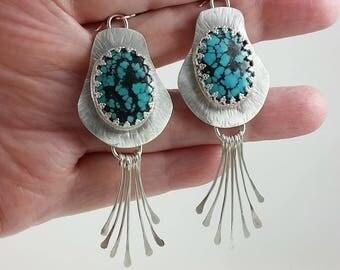 Gypsy Radiance Kingman Turquoise Earrings Set in Sterling Silver