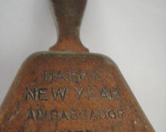 Metal Bell Happy New Year Ambassador Hotel