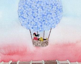 Hydrangea Balloon - Archival Art Print