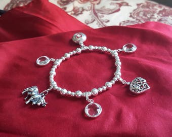 Sterling Silver Swiss Charm Bracelet I