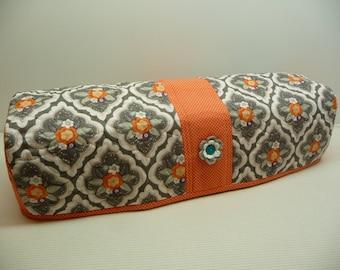 Tangerine Blossoms - Quilted Cricut Explore Cozy - Explore Cozy - Explore Dust Cover