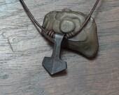 Small pure Iron Thor's hammer Pendant