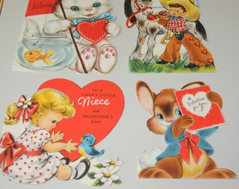 1950s Four Valentine Cards