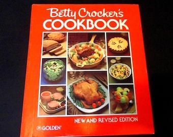 Vintage Cookbook Betty Crocker's Cookbook New & Revised Edition Cookbook 1982 Fabulous Mid Century Modern Cookbook