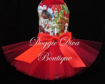 SALE - Dog Tutu Dress, Choose from 20 Fabric Prints, Dog Dress, Dog Costume, Buy now for Halloween or Christmas, XS, Small, Medium, Custom