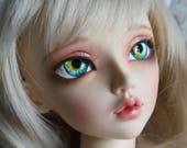 BJD eyes Doll eyes Hand made available in 12141618202224mm Azure Koi made to order