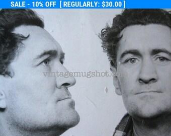 1940's  Mug Shot Sheftn Pennsylvania Police Criminal  Criminal Booking Photo Strange Photo