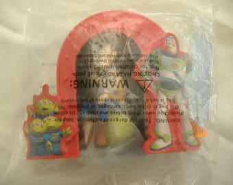 Toy Story - Woody, Buzz and Aliens Cake Topper by DecoPac, Unopened