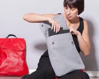 Vegan Laptop backpack women, Gray Backpack Bag, Laptop Rucksack, Vegan Backpack Bag, Backpacks for women, school backpack, student backpack