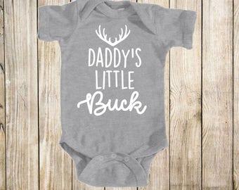 Baby, deer, buck, bodysuit, boy, shirt, tops, infant, creeper, grey, white, hunting, t-shirt, childrens, clothing