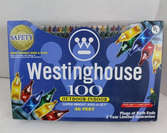 Westinghouse 100 light set super bright Multi Color Lights Christmas Tree Wreath