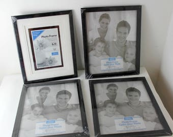 lot of four black 8x10 picture frame lot home decor craft supply NIP