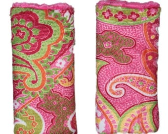 Car seat strap covers, padded strap covers, reversible strap coversCar Seat Strap Covers, floral strap covers- Ships today