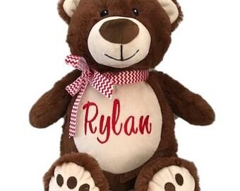 Personalized Stuffed animal, Stuffed Animal, 1 day ship, baby gift, personalized baby gift, Bear stuffed animal
