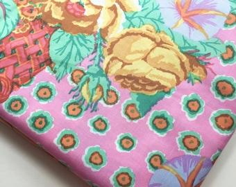 Kaffe Fassett Flower Basket Pink GP 48 Fabric, OOP, Rare Colorway, Retired, HTF