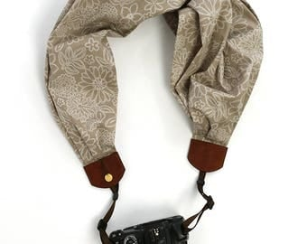 scarf camera strap natural beauty - BCSCS112