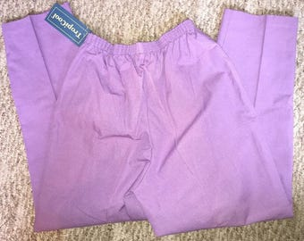 Vintage Women's Lavender Pants Made By Blair Size 12PT Elastic Waist