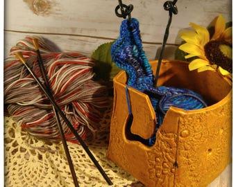 Pumpkin Spice yarn bowl