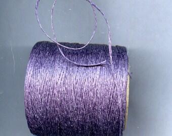 Lilac Waxed Cord Thread 5 yards