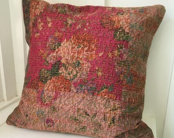 Vintage Kantha Boho Cottage Pillow Cover 10