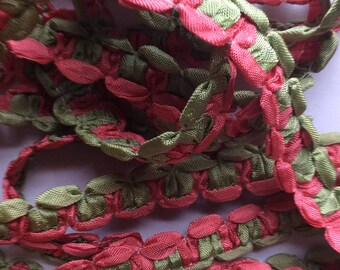 SALE 5.yard piece melon green ribbon finishing trim item #A22